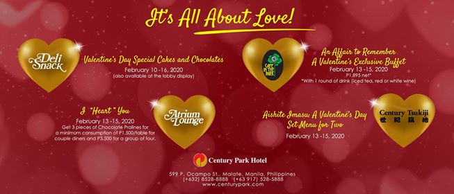 It's all about love at Century Park Hotel