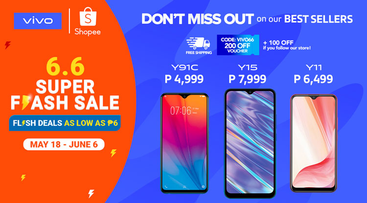 Get the best deals on Vivo smartphones with Shopee, Lazada 6.6 sales