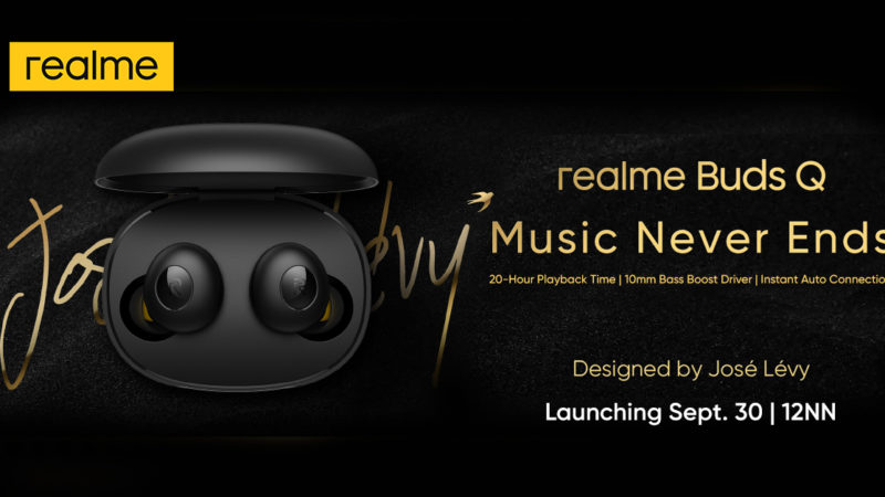 Stylish realme Buds Q arrives in PH on September 30