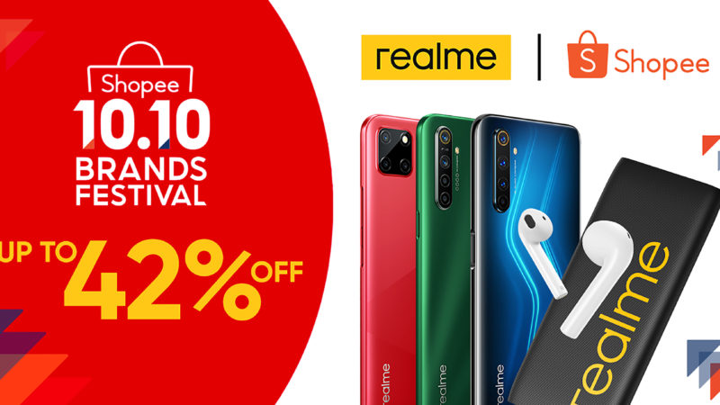 Discounts up to 42% await realme fans at Shopee 10.10 Brands Festival Sale