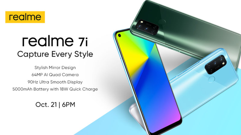 Capture Every Style with the realme 7i on October 21
