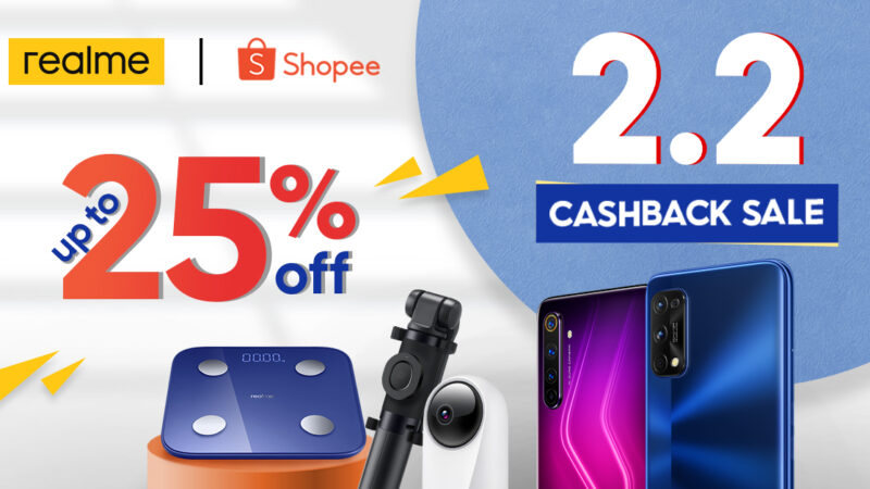 realme Philippines joins Shopee's 2.2 cashback sale with exciting deals, promos