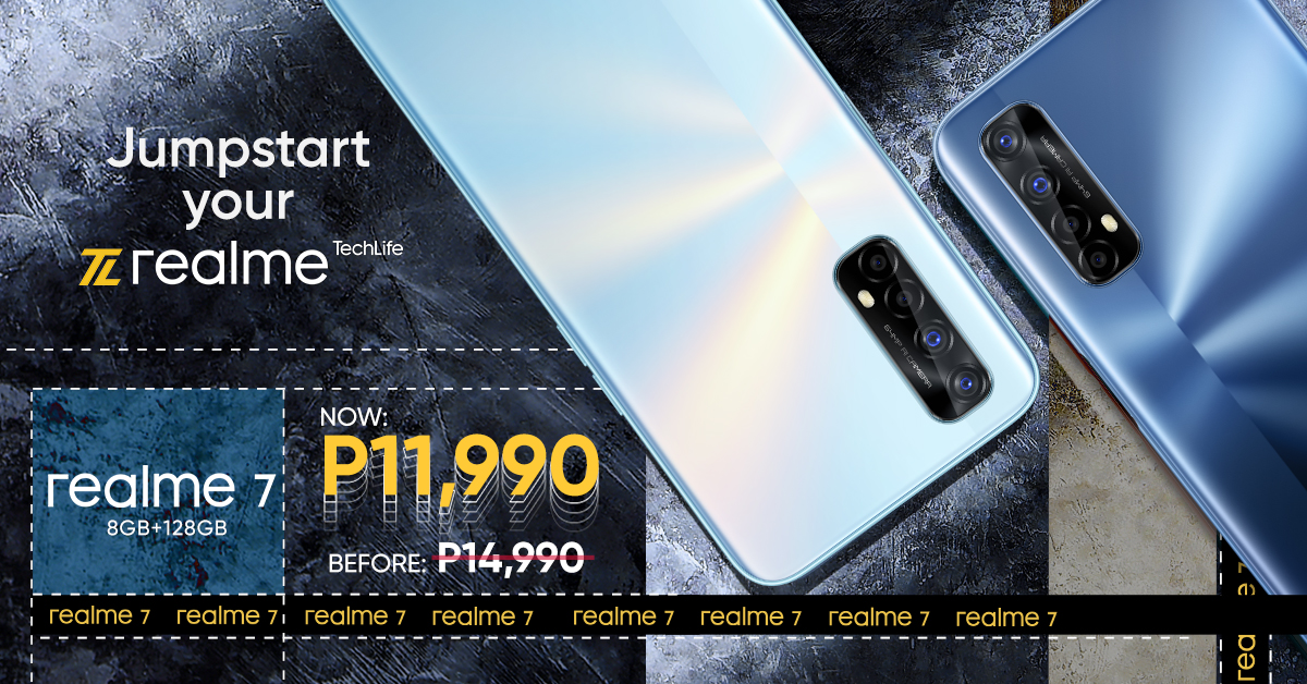 realme 7 retail price slashed, now at Php 11,990