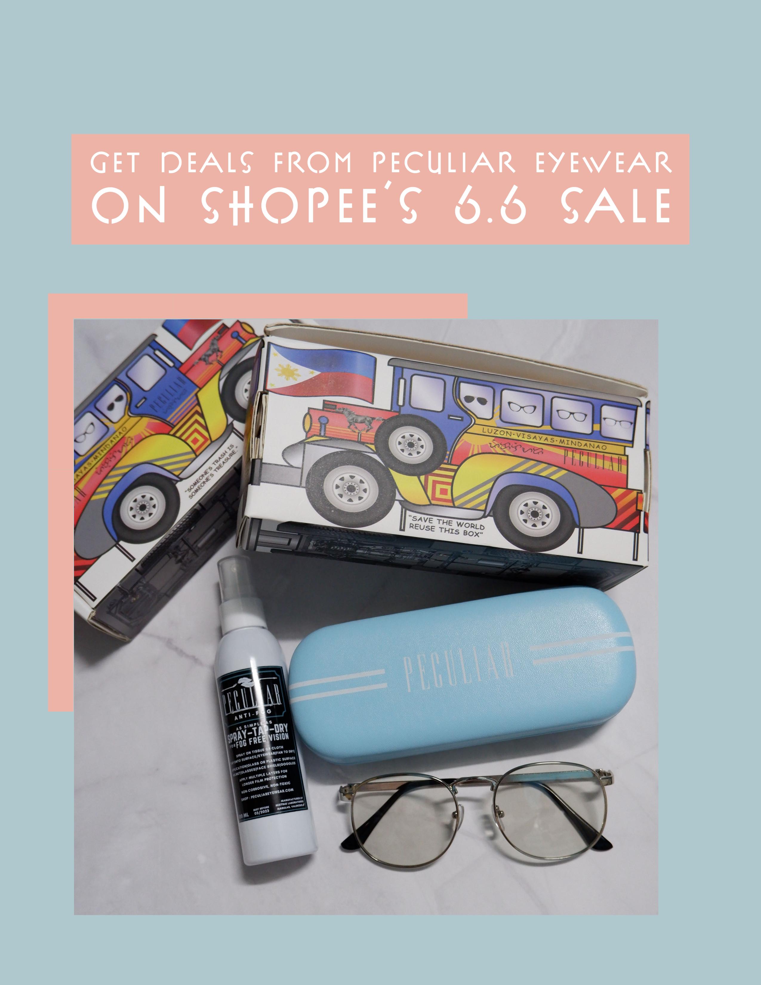 Get deals from Peculiar Eyewear's Shopee 6.6. sale
