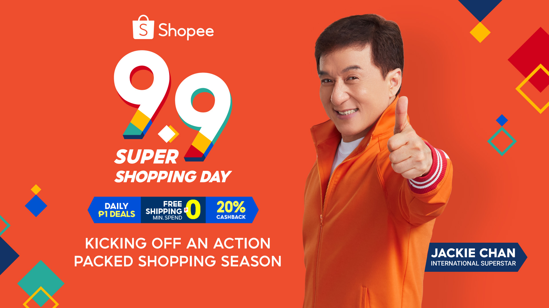 Shopee Kicks off the Most Action-Packed Year-End Shopping Season with 9.9 Super Shopping Day; International Superstar, Jackie Chan