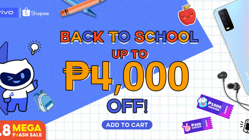 Back-to-school big discounts on vivo smartphones, available at Shopee 8.8 Sale!