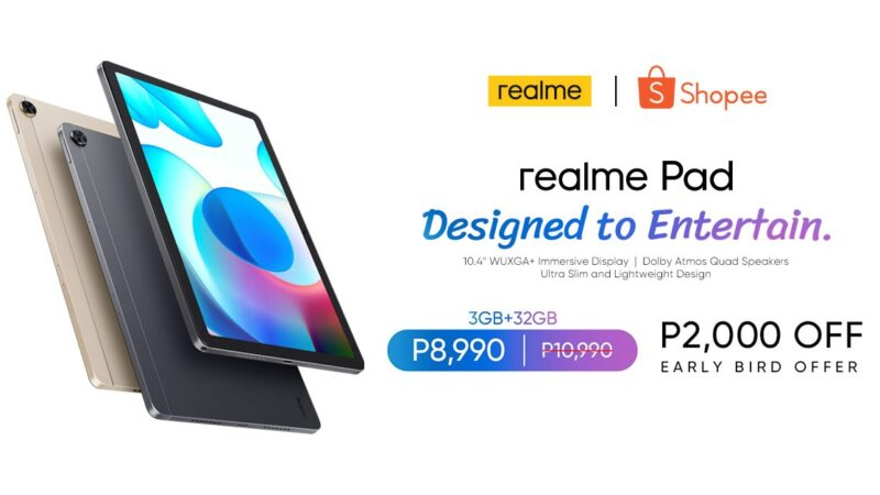 Get the realme Pad, new TechLife products for up to P3,000 off