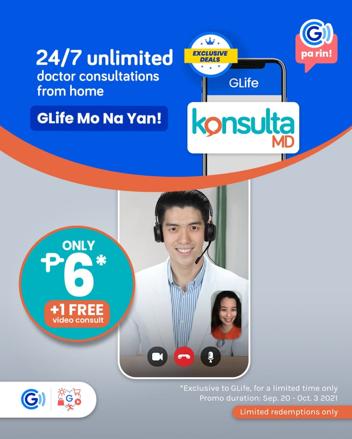 You can now access 24/7 Teleconsultation service KonsultaMD through GCash app
